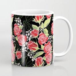 Red Rose Modern Pattern Design Coffee Mug
