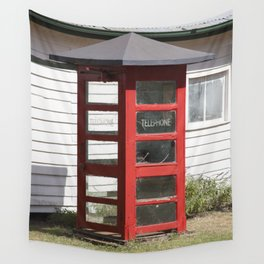 Old Telephone box Wall Tapestry