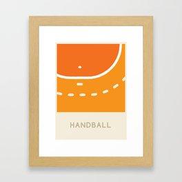 Handball (Sports Surfaces Series, No. 11) Framed Art Print