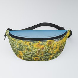 Blooming sunflowers field in France, Europe Union Fanny Pack