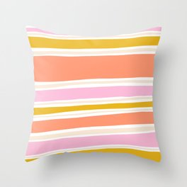 del mar, 70's stripes Throw Pillow