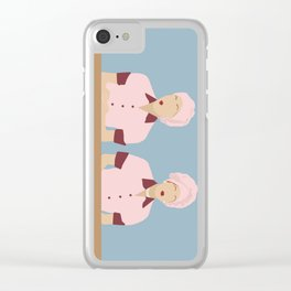 Lucy & Ethel -Chocolate Factory Clear iPhone Case