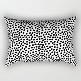 Stylish simple black white watercolor polka dots Rectangular Pillow