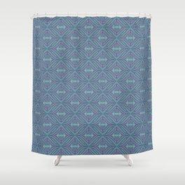 Blue Patch Shower Curtain