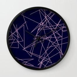 Random Light Pink Lines. Wall Clock
