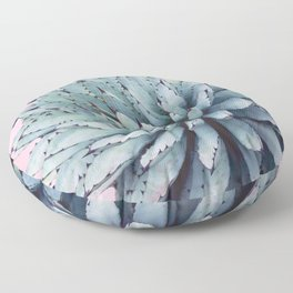 Pink Crush Succulent I Floor Pillow
