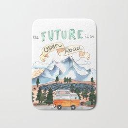 The Future is an Open Road Bath Mat