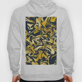 yellow and blue marble abstract texture pattern Hoody