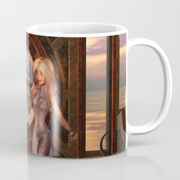 Little girl in the sunset Coffee Mug