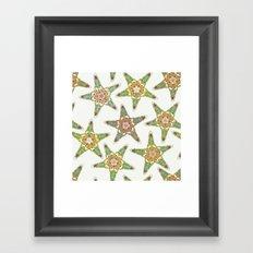 starfish flowers off white Framed Art Print