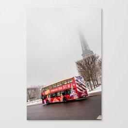 Tour Bus to the Eiffel Canvas Print