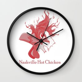 Rojo - Nashville Hot Chicken Wall Clock