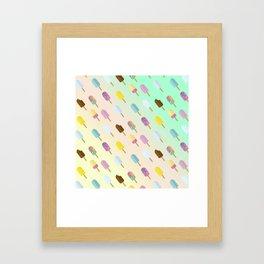 Popsicle Summer Framed Art Print