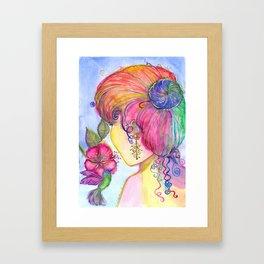 Ela e o beijaflor Framed Art Print