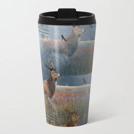 Illusion Stag Travel Mug