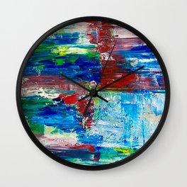 Abstract Waterfall Wall Clock