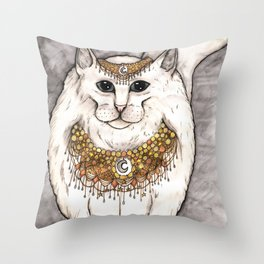 Norwegian Cat Throw Pillow