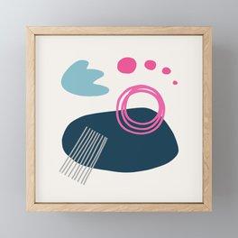 Summer Swimming Abstract Framed Mini Art Print