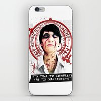 "silent hill iPhone & iPod Skins featuring Silent Hill - It's time to complete the ""21 Sacraments"" by Emme Gray"