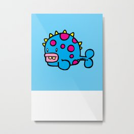 Spikey dot fish Metal Print