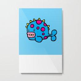 Spikey dot fish Metal Print