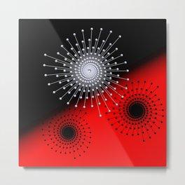 3 colors and 3 dimensions -1- Metal Print