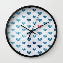 One Red Heart Wall Clock