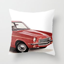 1970's Chevy Vega Throw Pillow