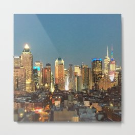 New York City Night Lights Metal Print