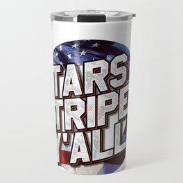Independence Day Stars and Stripes Y'All American Flag Travel Mug