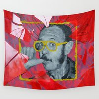 terry fan Wall Tapestries featuring Terry by Dmitry  Buldakov