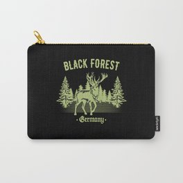 Black Forest Germany Deer with Trees Swabia Carry-All Pouch