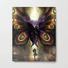 Boss Fight: Mothula (Tempered Sword) Metal Print