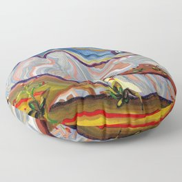 Earth Changes 1985 Floor Pillow