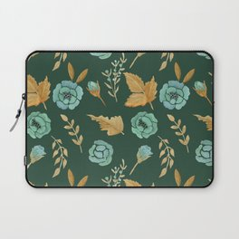 Watercolor floral turqiouse roses print Laptop Sleeve