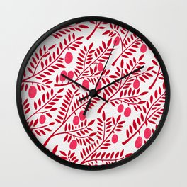Olive Branches – Fiery Palette Wall Clock