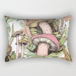 wild mushrooms Rectangular Pillow