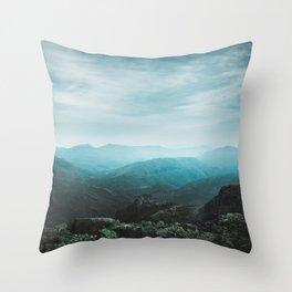 Peaks Beyond Throw Pillow