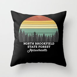 North Brookfield State Forest Massachusetts Throw Pillow