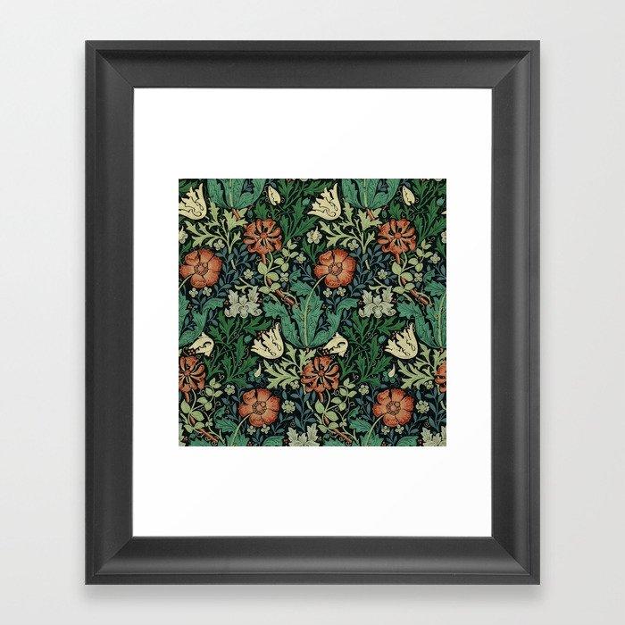 William Morris Compton Floral Art Nouveau Pattern Gerahmter Kunstdruck