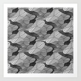 Polar Grid 2 Art Print