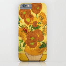 Sunflowers by Van Gogh iPhone Case
