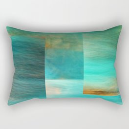 Fantasy Oceans Collage Rectangular Pillow