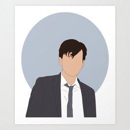 Alec grumpy Hardy Art Print