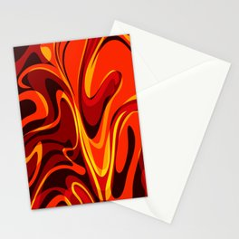 Abstract Lava Magma Stationery Cards