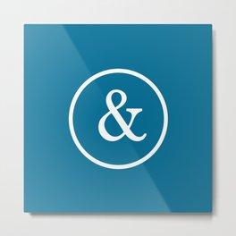 Ampersand & Blue Metal Print