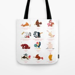 Chicken Yoga Tote Bag