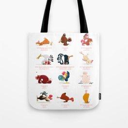 Chicken Yoga Tote Bag