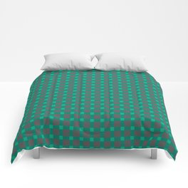 Green gray , plaid Comforters