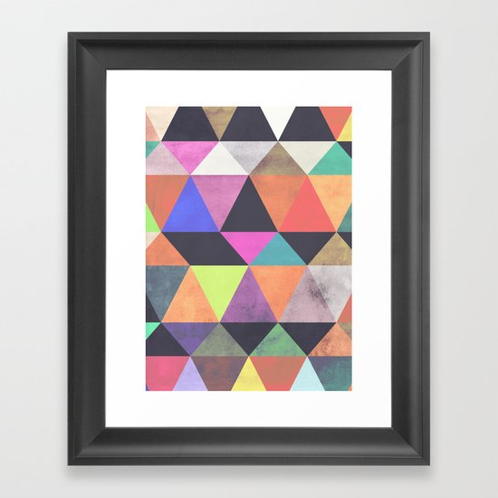 colour + pattern 12 Framed Art Print